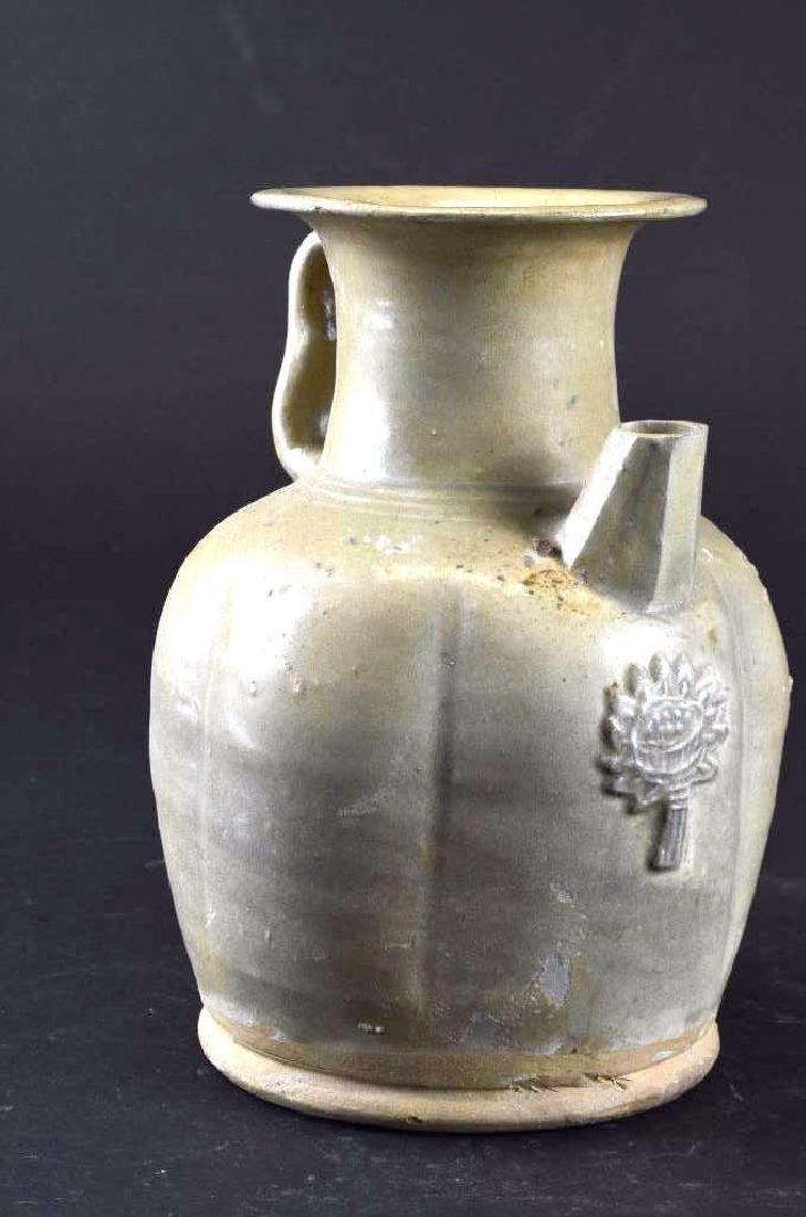 Chinese Celadon Glaze Porcelain Ewer - 3