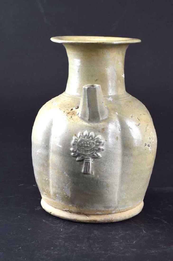 Chinese Celadon Glaze Porcelain Ewer - 4