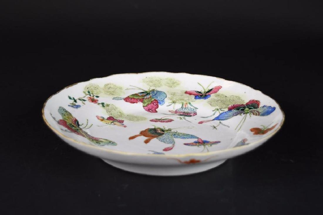 Antique Chinese Famile Rose Porcelain Plate - 2