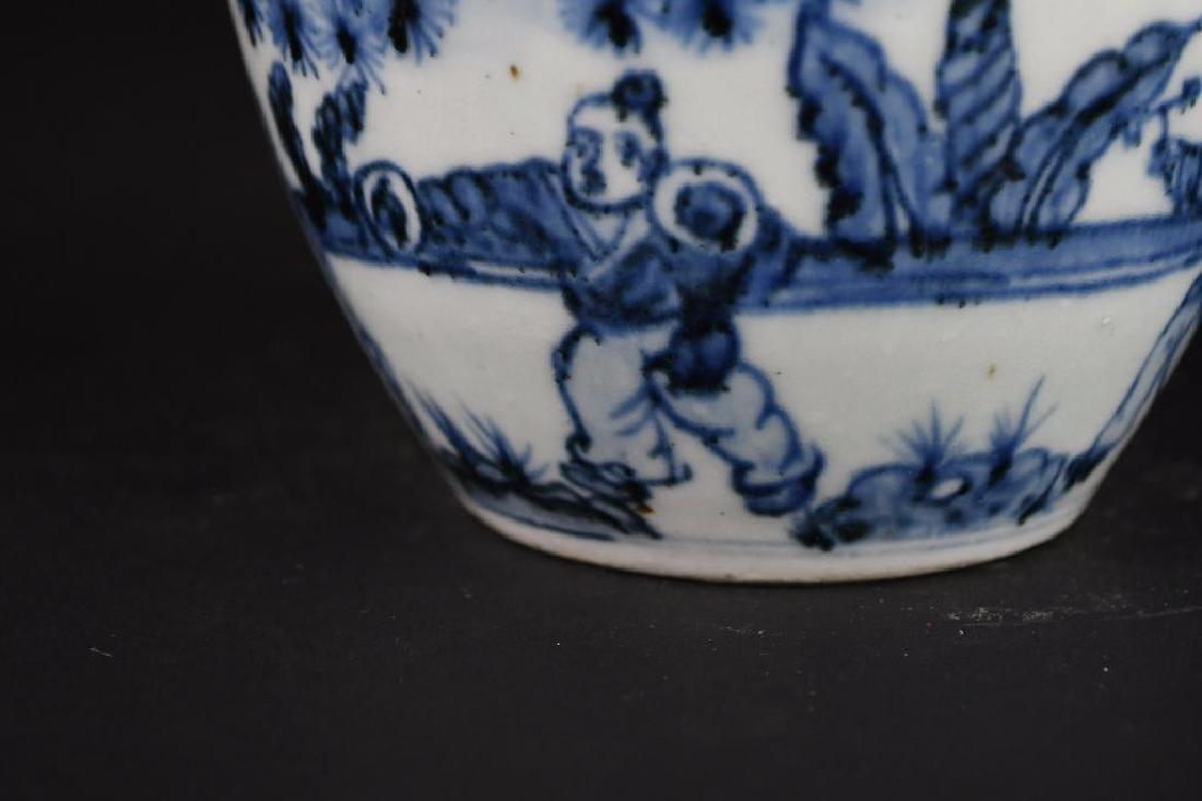 Chinese Blue & White pOrcelain Vase - 9