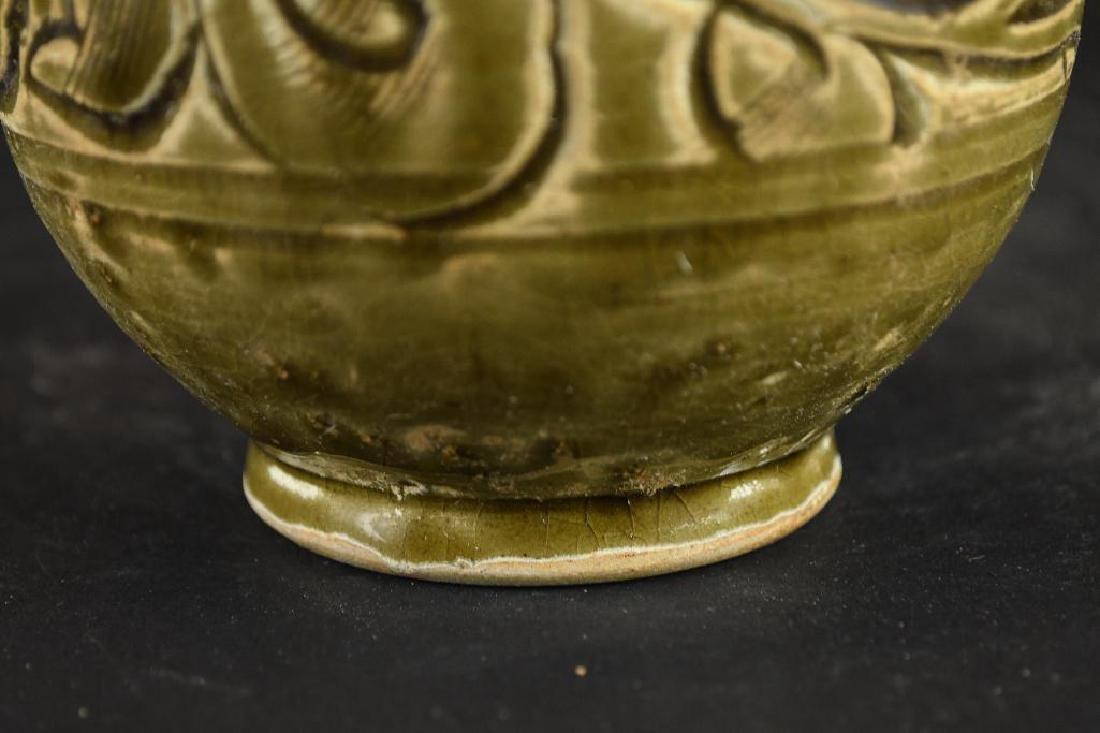 Chinese Celadon Glaze Porcelain Vase - 9