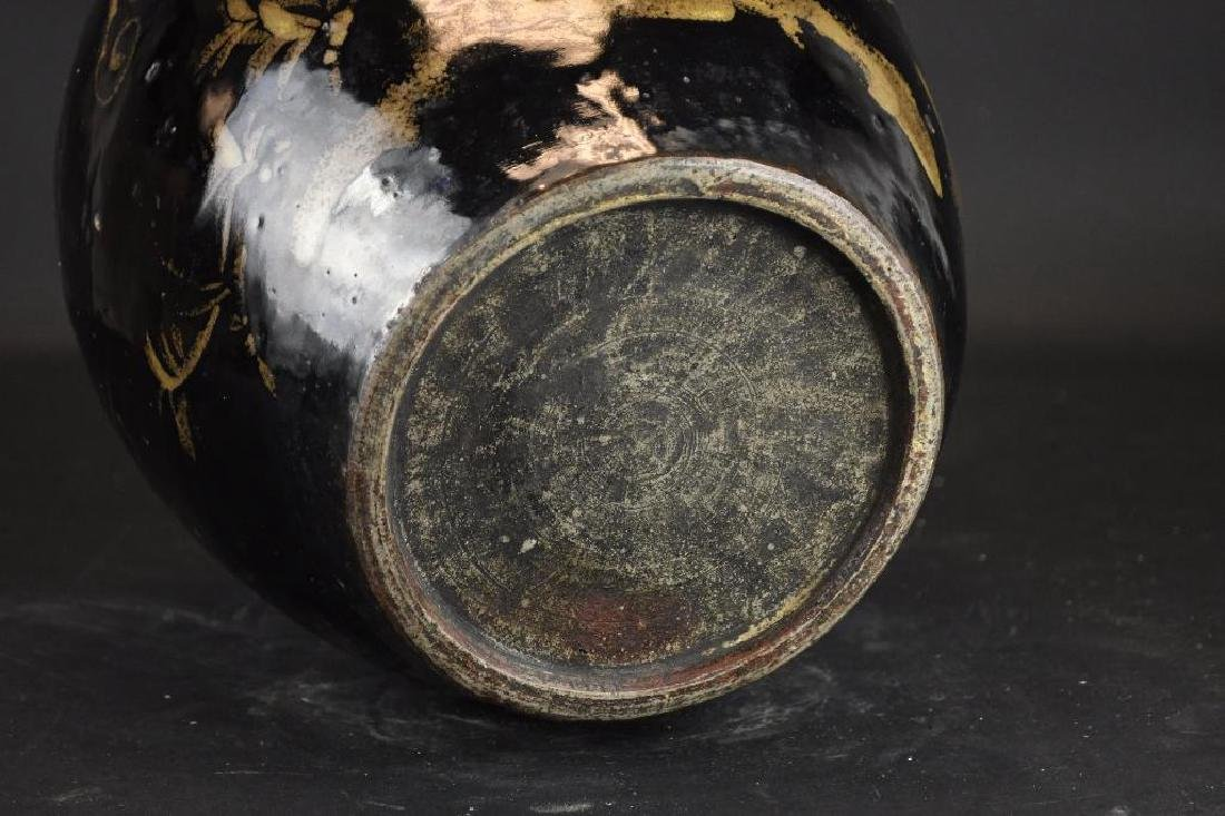 Chinese Black Glaze Vase - 5