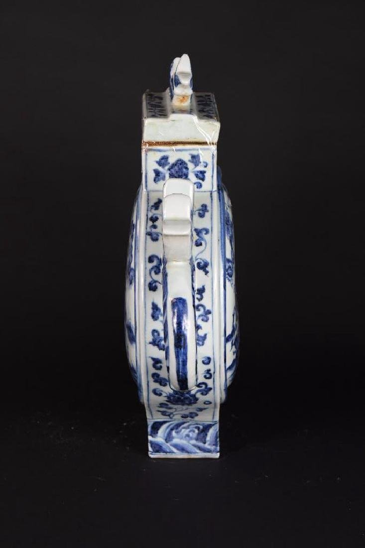 Chinese Blue and White Porcelain Lidded Ewer - 2