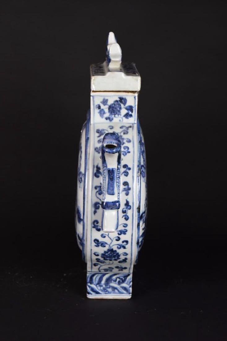 Chinese Blue and White Porcelain Lidded Ewer - 4
