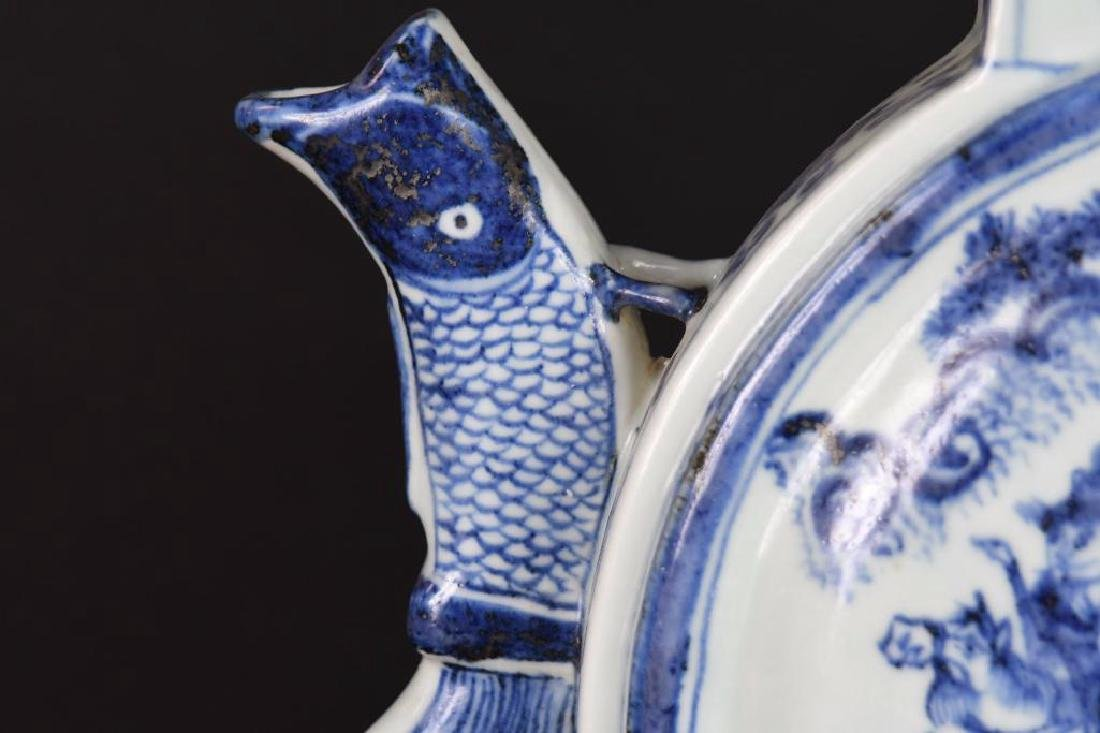 Chinese Blue and White Porcelain Lidded Ewer - 6