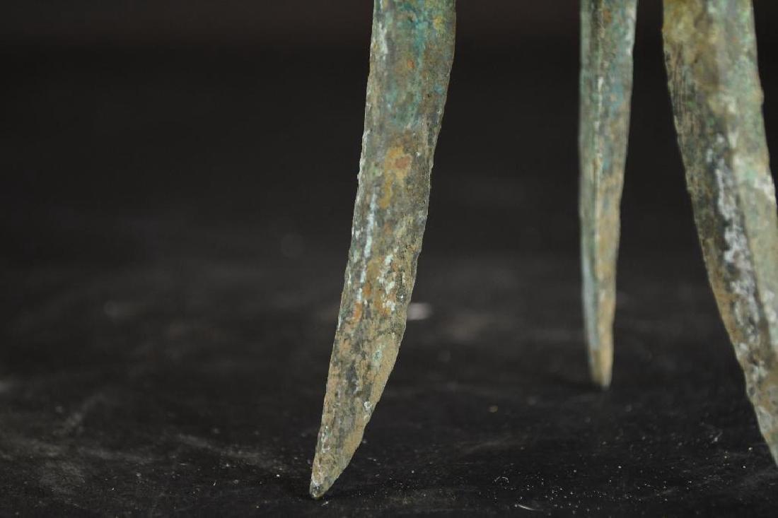 Chinese Bronze Tripod Vessel - 7