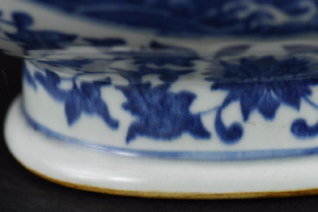 Chinese Blue & White Moonflask - 10