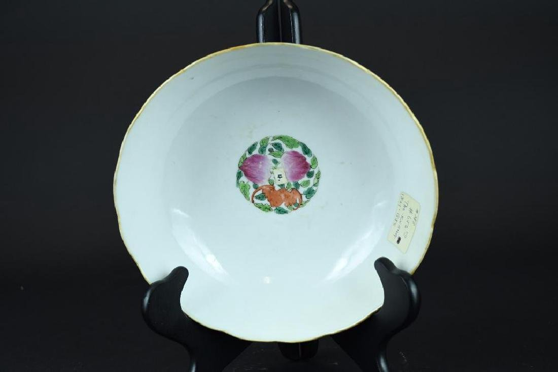 Chinese Porcelain Dragon Bowl - 2