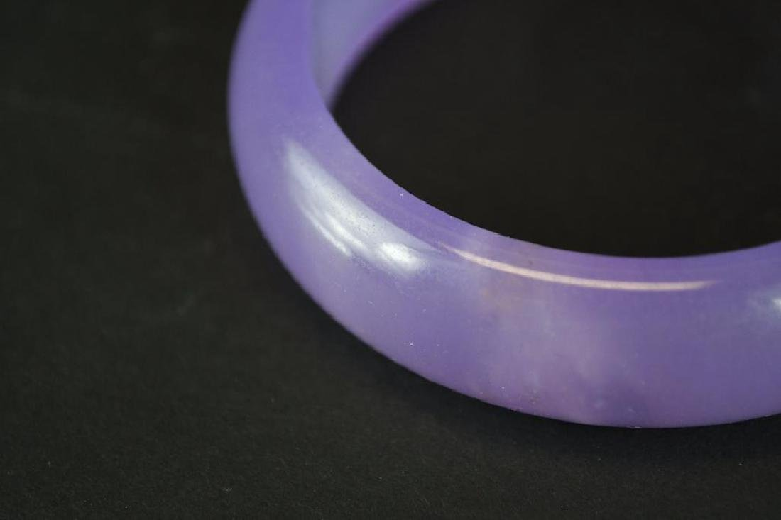 Chinese Lavender Jadeite Bangle - 5