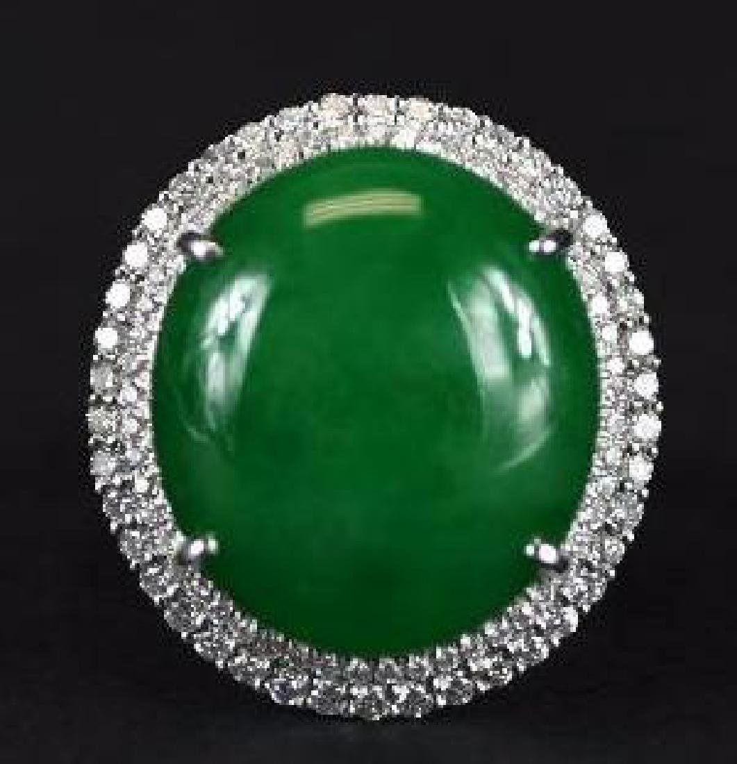Apple Green GIA Certified Natural Grade A Ring