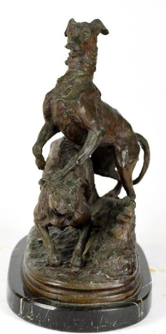 Bronze Group of Playful Dogs - 2