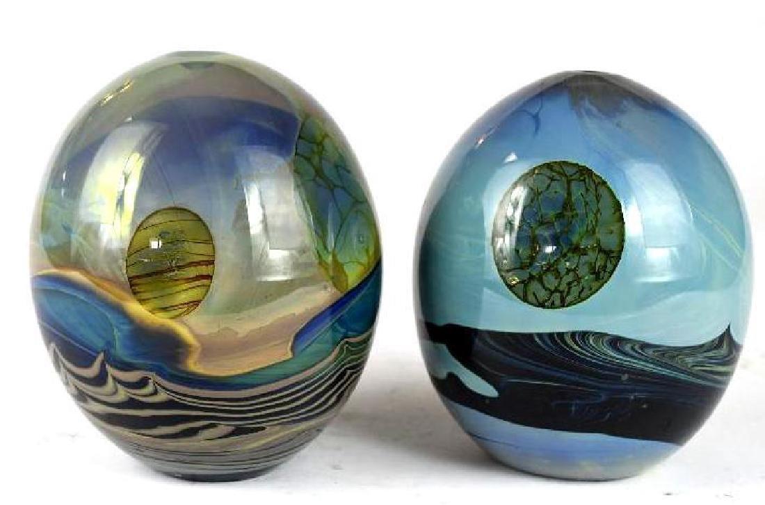Two Art Glass Vases - 3