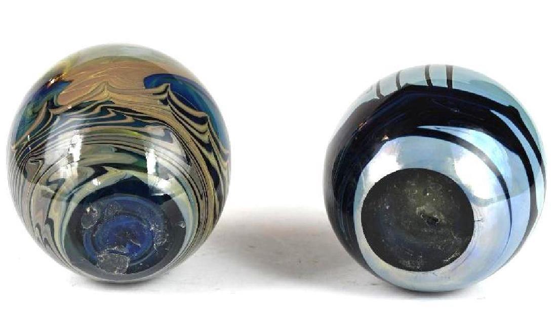 Two Art Glass Vases - 6