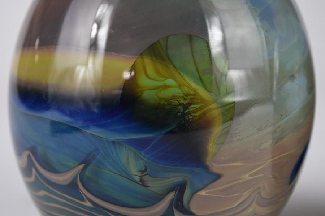 Two Art Glass Vases - 8