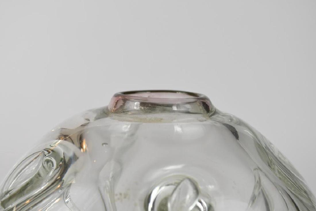 Signed Art Glass Vase - 7