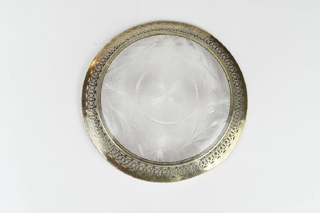 Crystal & Sterling Silver Bowl - 3