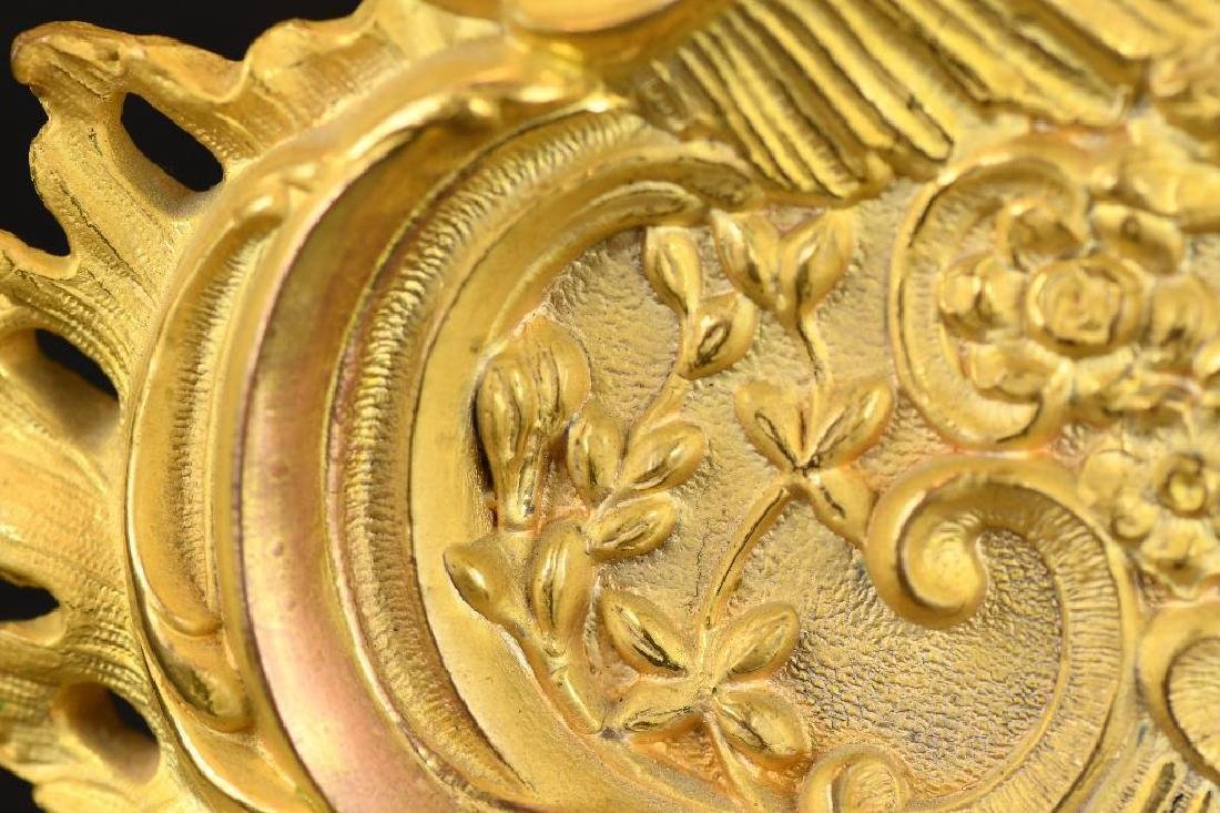 French Gold Gilt Mantle Clock - 8