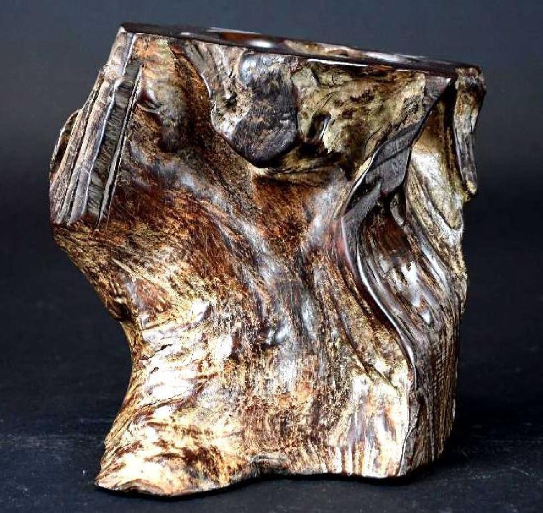 Chinese Wood Brushpot