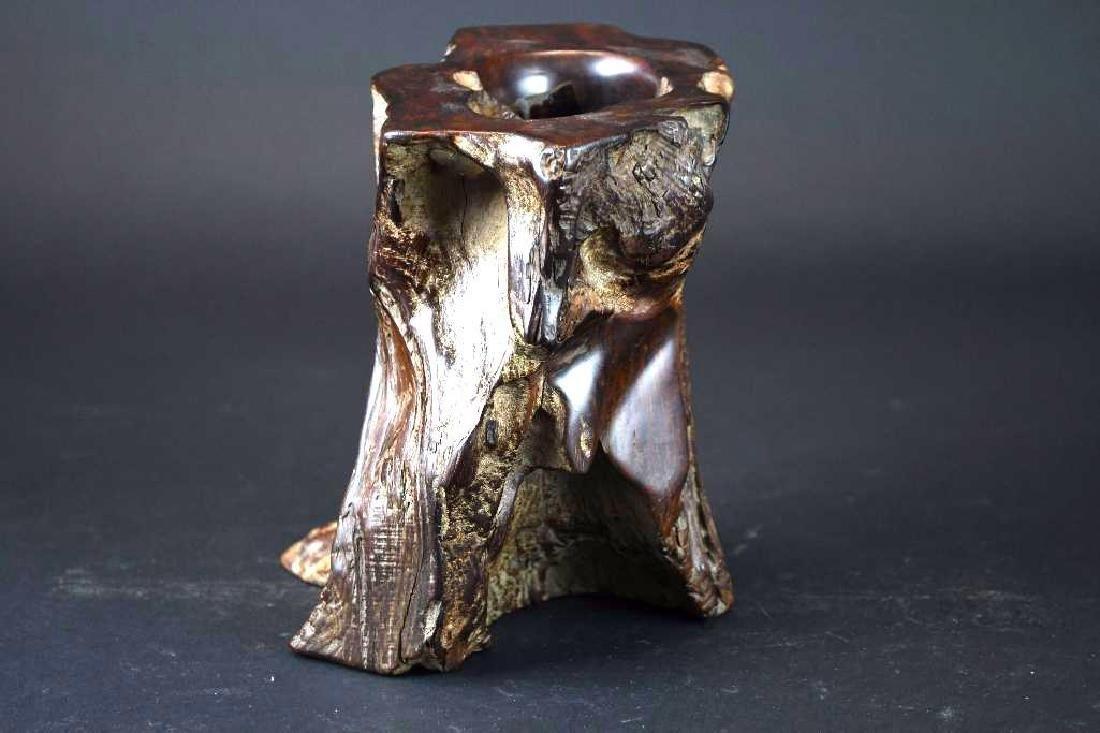 Chinese Wood Brushpot - 2