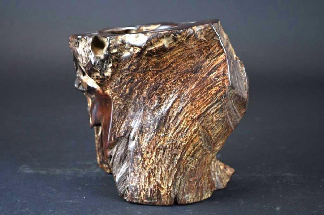 Chinese Wood Brushpot - 3