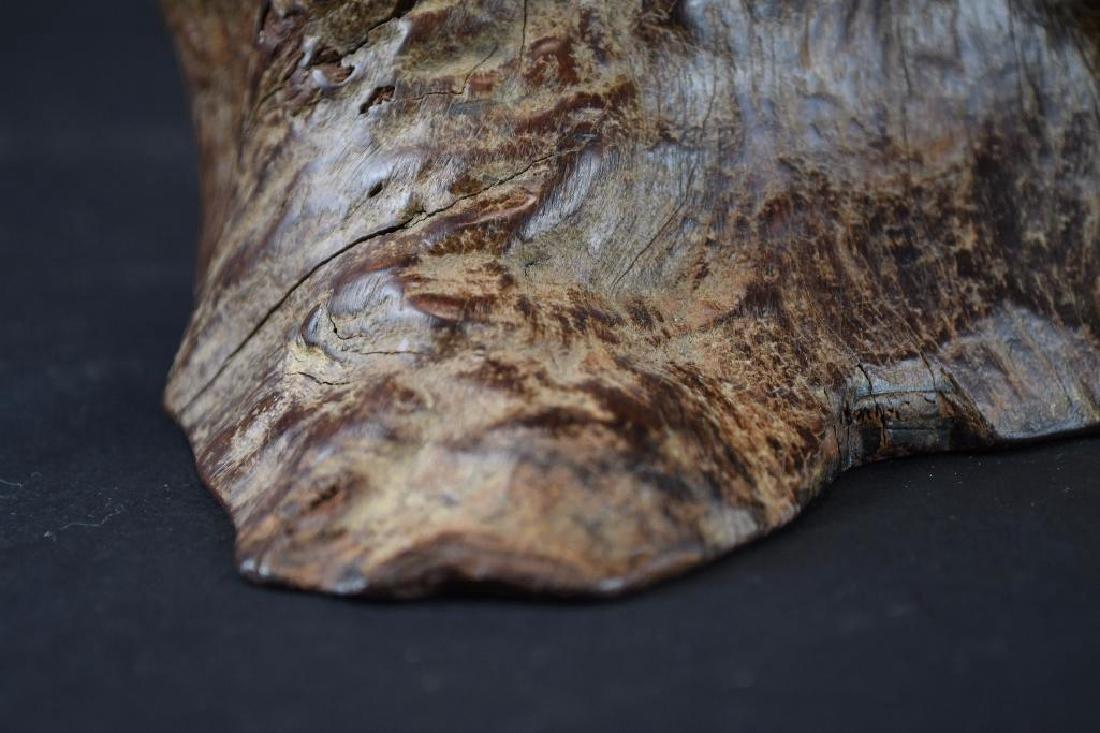Chinese Wood Brushpot - 9