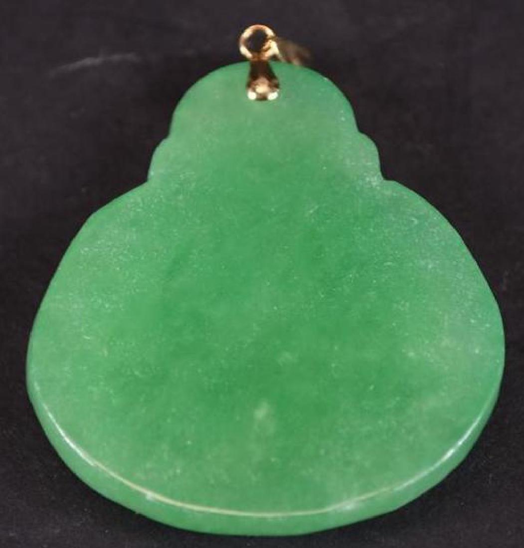 Jadeite Buddha & Gold Pendant - 2