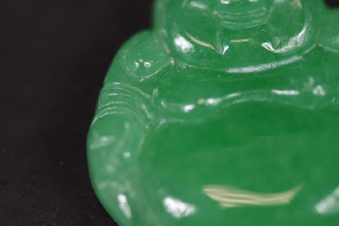 Jadeite Buddha & Gold Pendant - 4