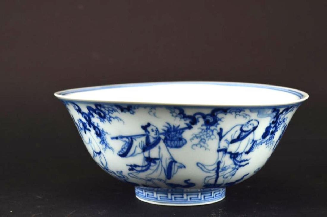 Chinese Blue & White Porcelain footed Bowl