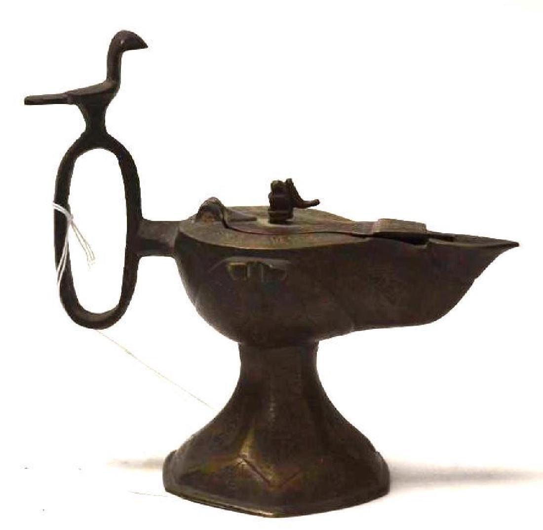 Islamic Bronze Oil Lamp - 6