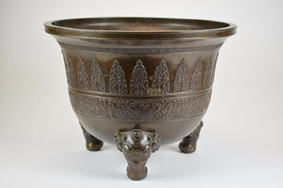 Large Chinese Bronze Tripod Censer - 6
