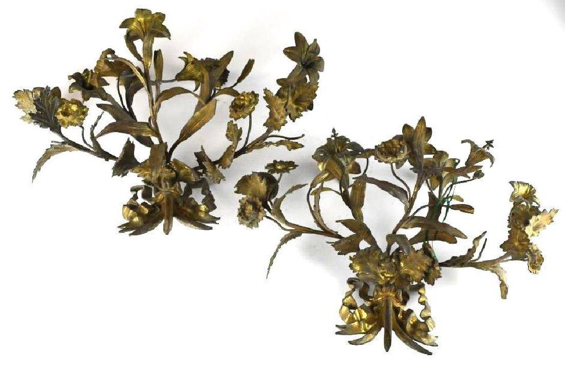 French Gilt Bronze Wall Sconce