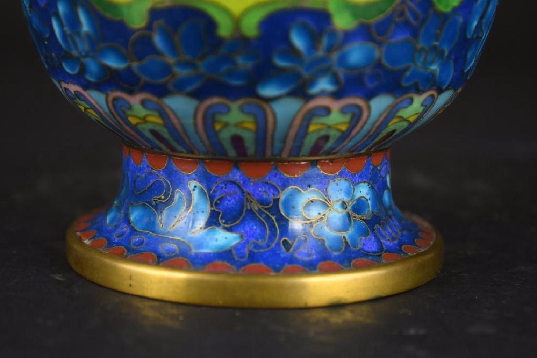 Chinese Cloissone Vase - 10