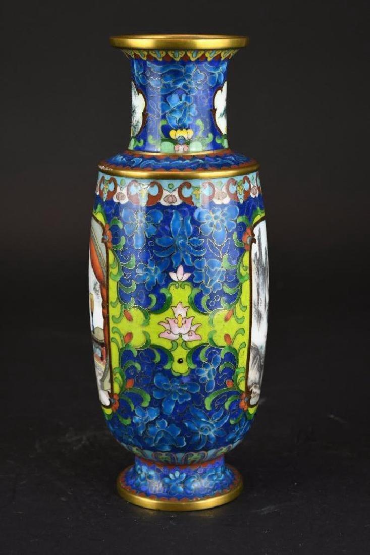 Chinese Cloissone Vase - 2