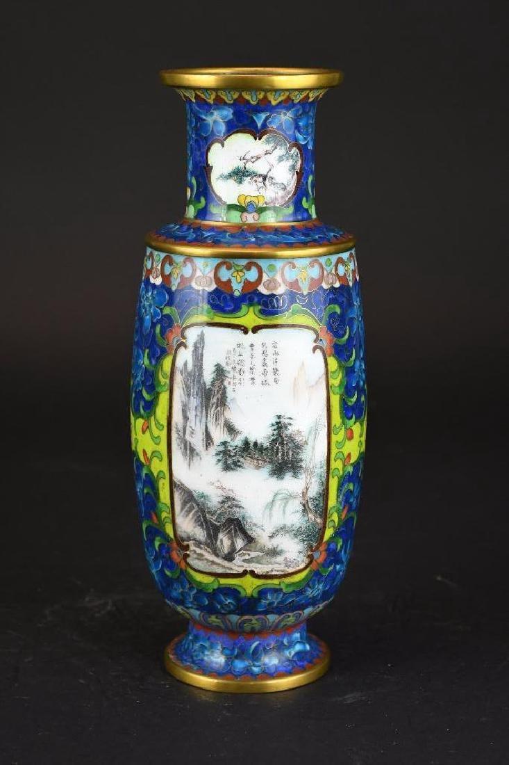 Chinese Cloissone Vase - 3