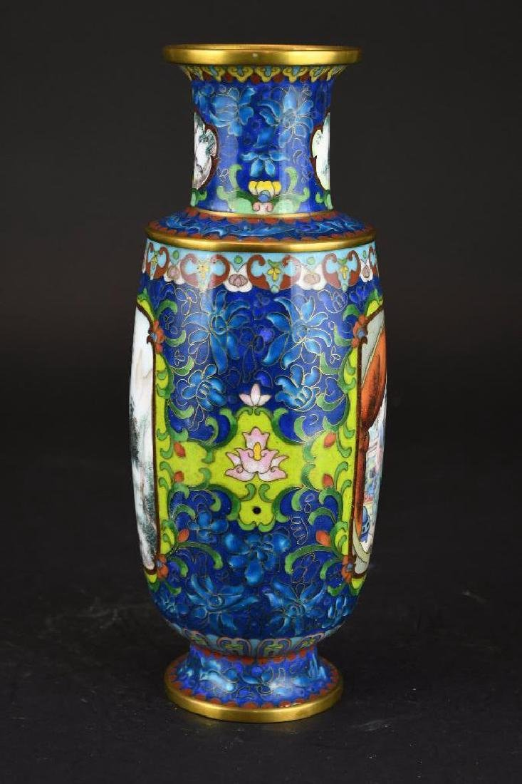 Chinese Cloissone Vase - 4