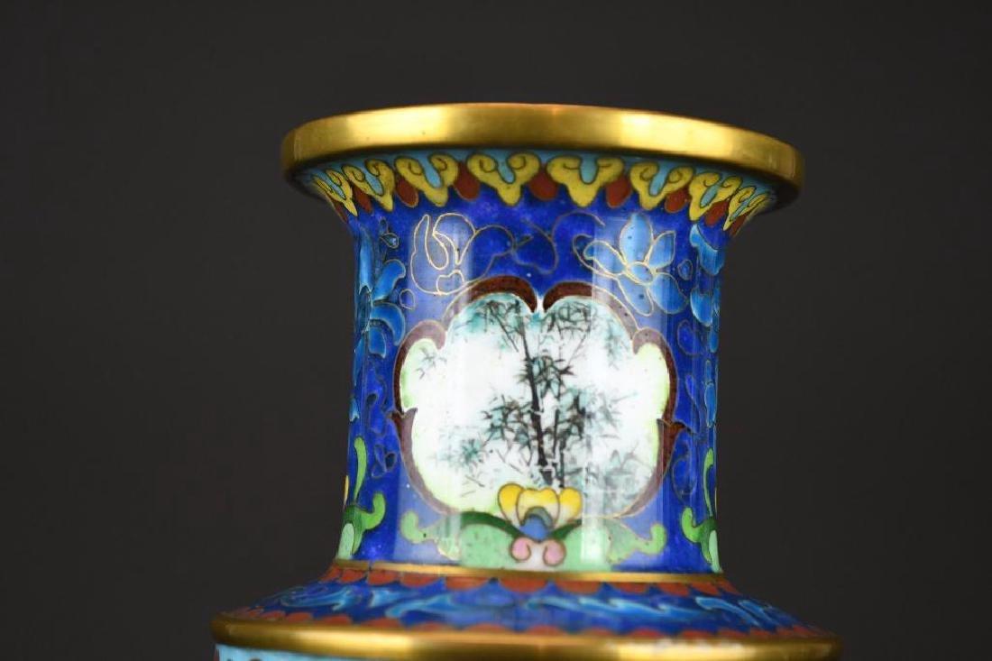 Chinese Cloissone Vase - 7