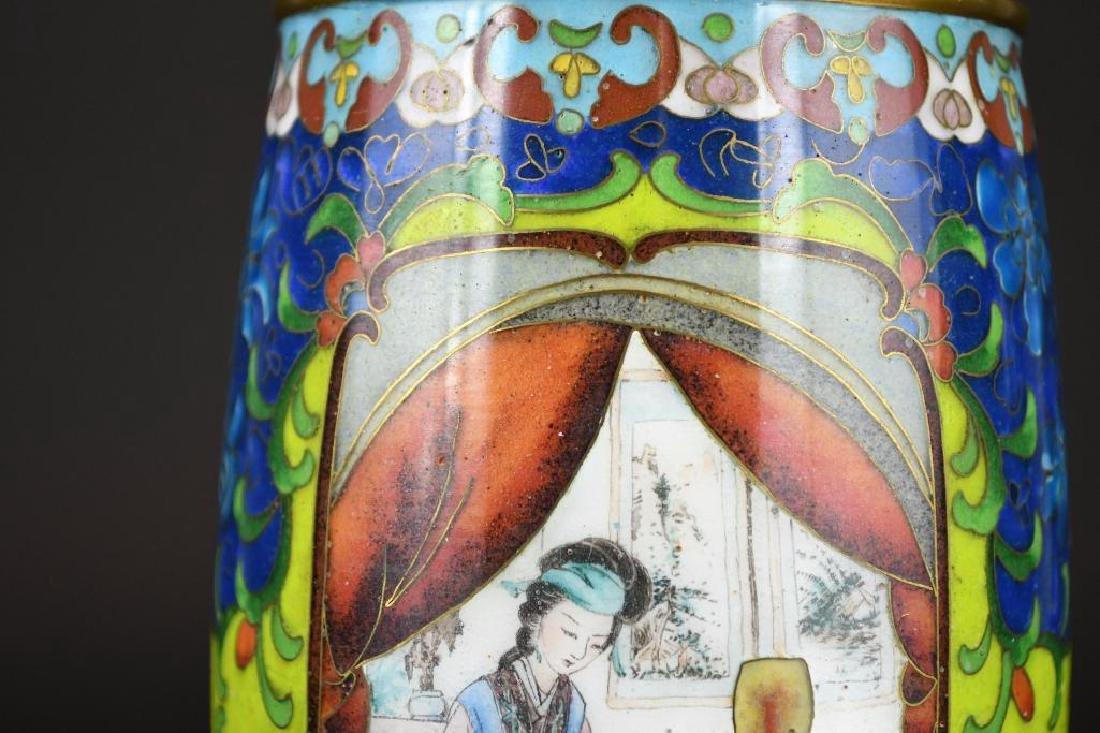 Chinese Cloissone Vase - 8