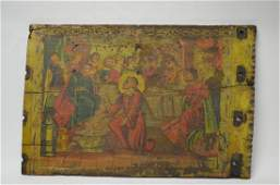 Antique Spanish Colonial Painting on Board