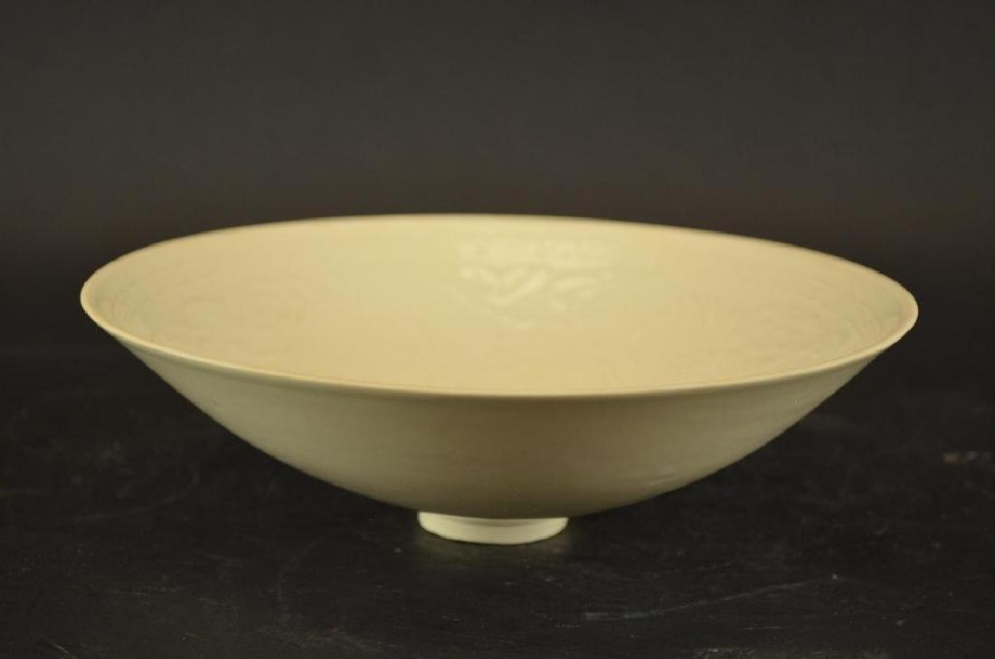 Chinese Straw Glaze Porcelain Fotoed Bowl
