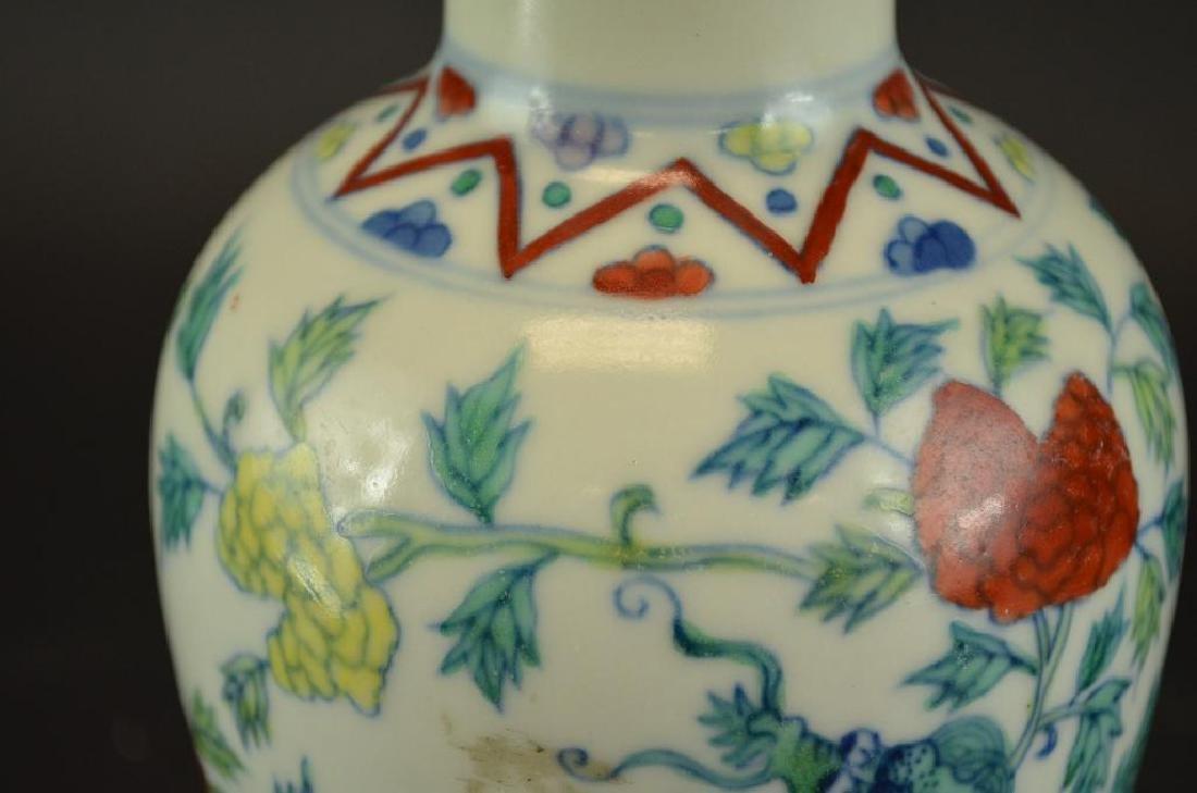Chinese Wucai Glaze Porcelain Dragon Vase - 3
