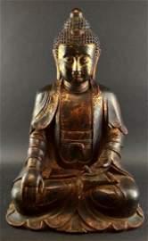 Antique Bronze Chinese Seated Guan Yin