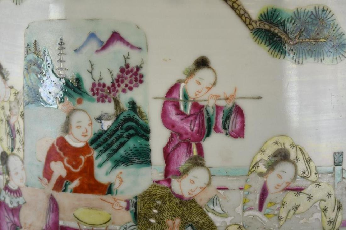 Antique Chinese Famille Rose Porcelain Garden Seat - 7