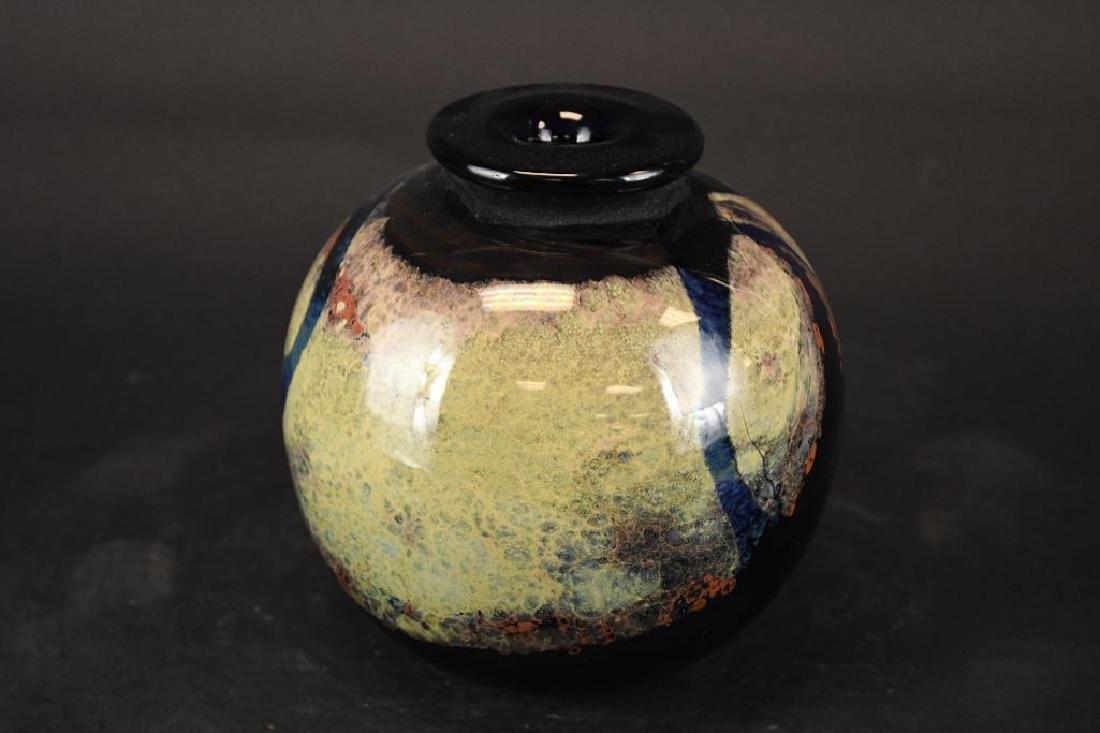 Signed Art Glass Bowl - 2