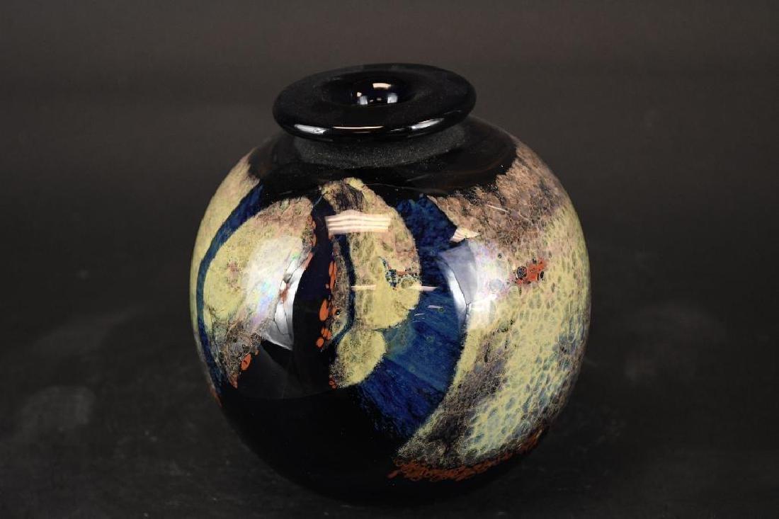 Signed Art Glass Bowl - 3