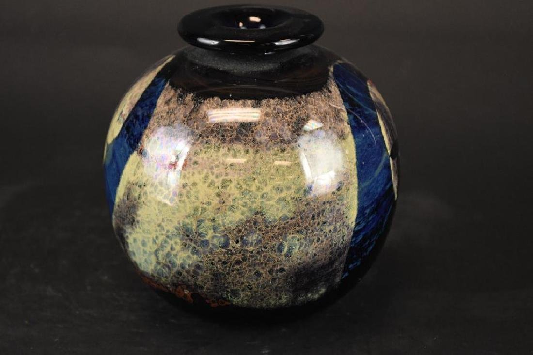 Signed Art Glass Bowl - 4