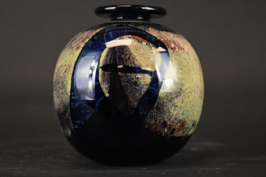 Signed Art Glass Bowl - 5