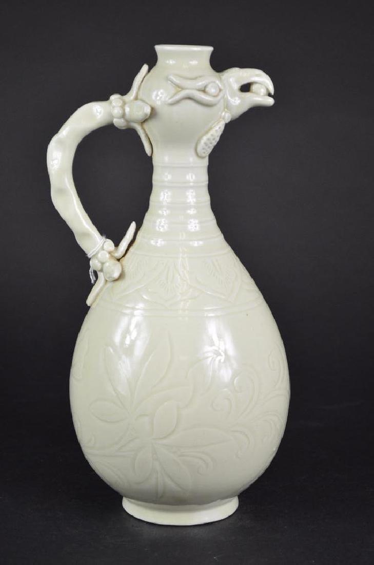 Chinese White Glaze Vase - 3