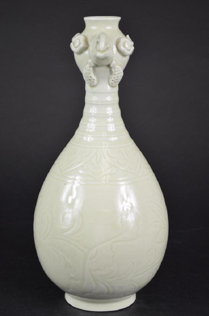 Chinese White Glaze Vase - 4