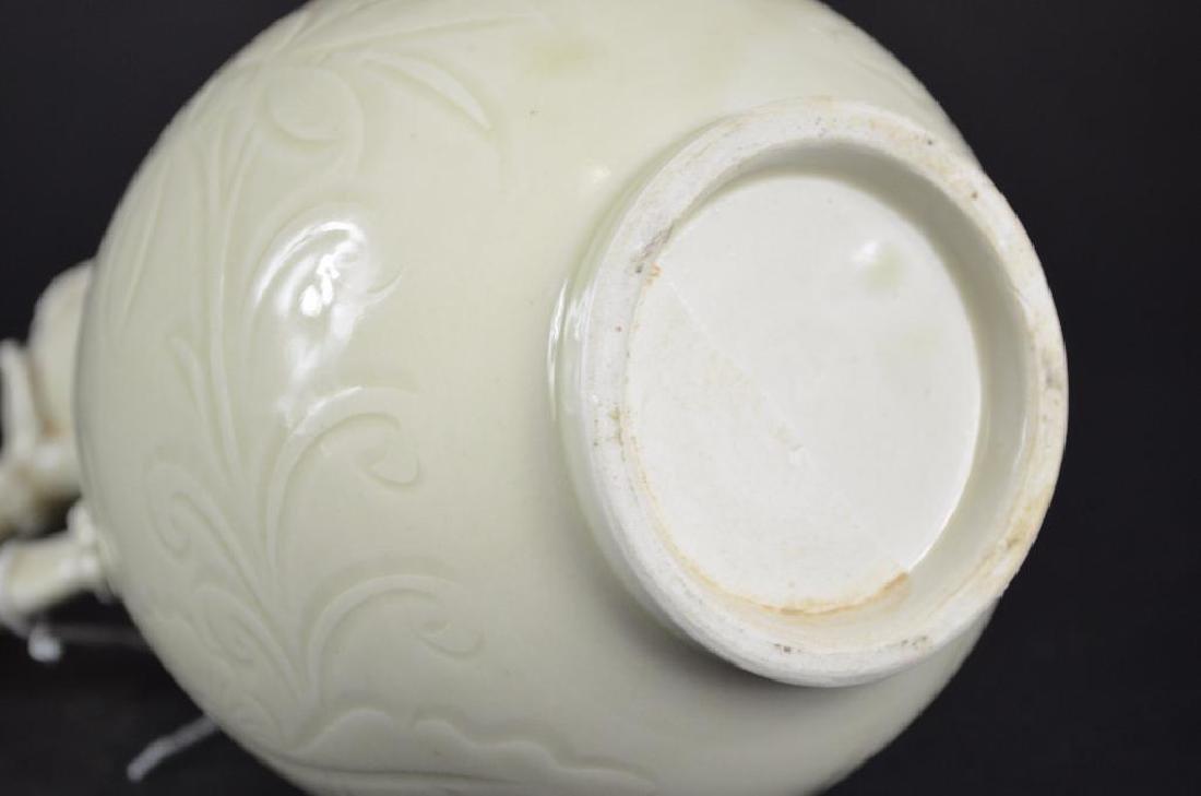 Chinese White Glaze Vase - 6