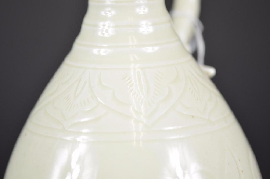 Chinese White Glaze Vase - 8